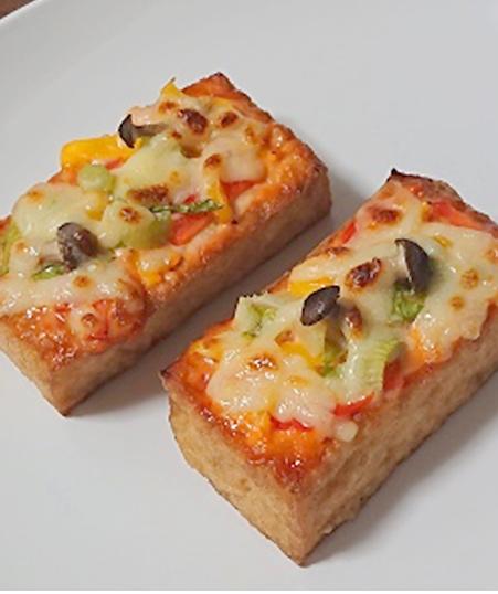 厚揚げのピザ風