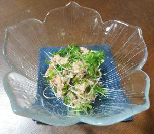 ブロッコリースプラウトとツナの和え物