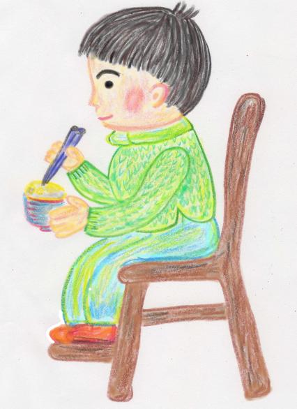 子どもが食事するときの椅子に座るときは足がつくことが大切