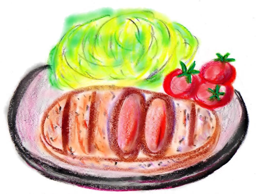 美味しそうなトンカツがのっている皿
