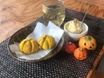 かぼちゃスコーンとかぼちゃクリーム